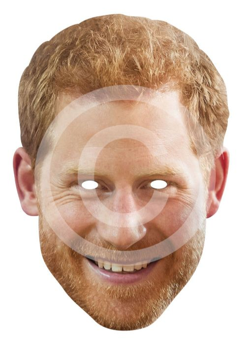 Prince Harry Card Mask Royal Wedding Fancy Dress Prop